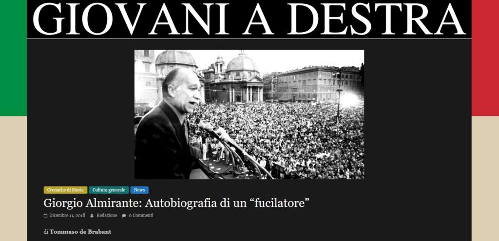 """per GaD: Almirante, """"""""Autobiografia"""""""